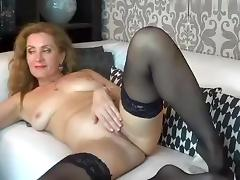 Barely Legal, Blonde, Masturbation, MILF, Solo, Stockings