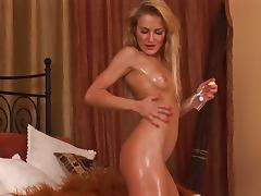 Savannah Secret is a solo blonde babe with a toy for her cunt