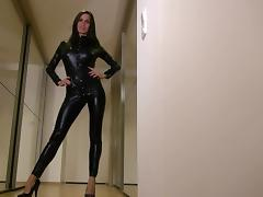 Catsuit tube porn video