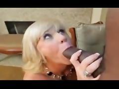 Blonde mature takes BBC porn tube video