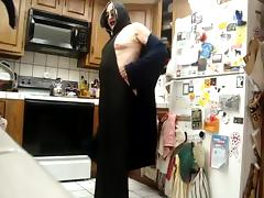 Ida gets hot and looks sexy in backless hoodie mask dress porn tube video