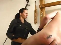 Caning, Big Tits, Caning, Femdom, Latex, Leather