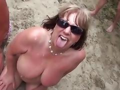 Beach, Amateur, Beach, Bukkake, Mature, Nude