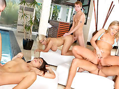 Bridgette B., Allie Jordan, Ally Kay, Alex Gonz, Sonny Hicks, Marco Rivera in Neighborhood Swingers, Scene #02