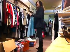 tranny clothes shopping stripping public tube porn video