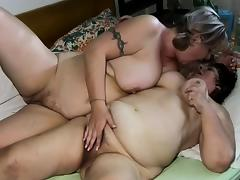 OldNanny Chubby mature and chubby milf have threesome sex porn tube video