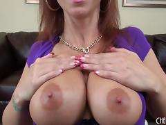 Hot facial cumshot decorates the lovely redheaded milf