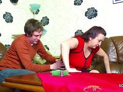 German StepMom Seduce to Fuck by stepson as dad is away tube porn video