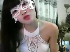 Vietnam cam girl with mask