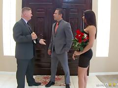 The hot wife fucks a businessman to get a good deal on a house porn tube video