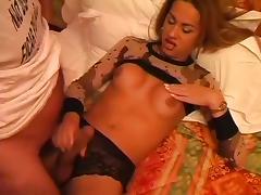 Sexy Ana Paula fucked in stockings tube porn video