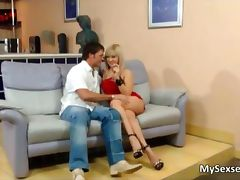 Beautiful blonde babe Lea Lexis gets