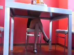 blowjob under the table