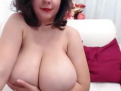 BBW, BBW, Masturbation, Solo, Big Nipples, Big Natural Tits