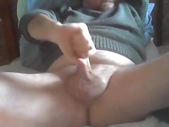 Wanking and cum playing with my cock
