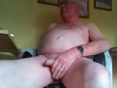 grandpa long stroke and play on cam tube porn video