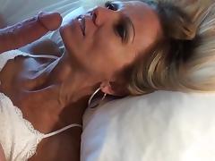 Petite mature blonde POV facial and replay porn tube video