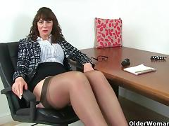 MILF, British, Fucking, Mature, MILF, Stockings