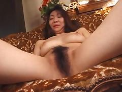 Sexy Japanese girl Biko Koike shows off her very impressive bush porn tube video