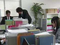 Tempting Japanese chick lets the guy use the toys on her sweet pussy