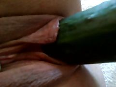 Cucumber in MY sluTs pussy Masturbation Dildo porn tube video