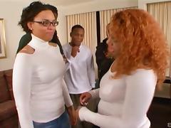 Fat ass black girl dressed up in lingerie for hardcore sex