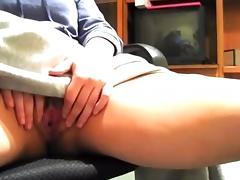 Desk, Desk, Fingering, Masturbation, Mature, Old