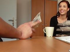 She makes a big of extra cash by fucking a guy she just met