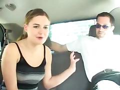 Cute college girl Autumn car fuck porn tube video