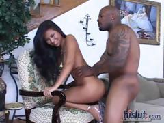 Nyomi likes ebony cock