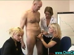 Fetish cock sucking sluts get down on their knees for some action