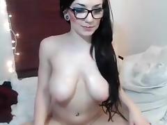 Brunette Ellefaye posing pussy porn tube video