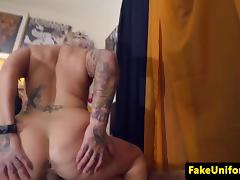 Inked arrestee buttfucked by beatcop