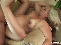 Horny pregnant blonde gets fucked hard