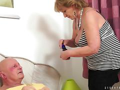 Granny gets her hairy hole fucked and has a senior orgasm