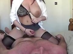 Lactating milf riding her hubby tube porn video