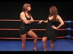Brunette Wrestling Showdown porn tube video