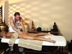 Poor customers banged and banged on massage table