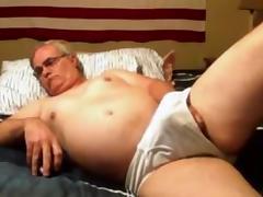 grandpa stroke on cam (no cum) 1 tube porn video