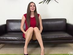 Tori Black is mind blowing in a tight red dress and lipstick porn tube video