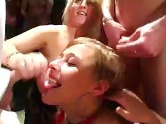Bukkake party western style with 3 hotties - CIM porn tube video