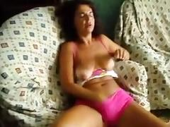 Portugal Wife rubbing her pussy on loveseat tube porn video