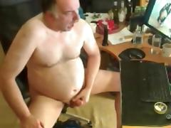 grandpa stroking and cum watching porn