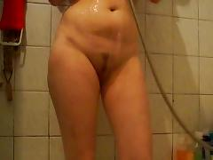 Bathing, Amateur, Bath, Bathing, Bathroom, Brunette