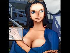 Nami&Nico Robin sexy titjobs tube porn video