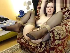 Bound, Bound, Fetish, Stockings, Webcam, Tied Up