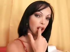 Solo TS wanks off her big pole 2 porn tube video