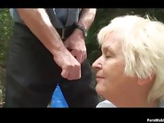 Sexy babe joins old couple porn tube video