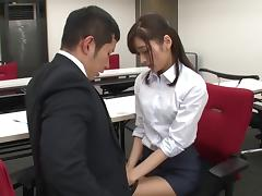 Unforgettable fingering action for her stunning Japanese beaver tube porn video
