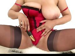 Big Tits, Big Tits, British, Fingering, Masturbation, Stockings